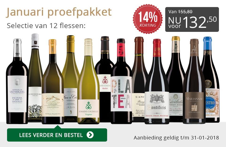 Proefpakket wijnbericht januari 2018 (132,50) - grijs/goud