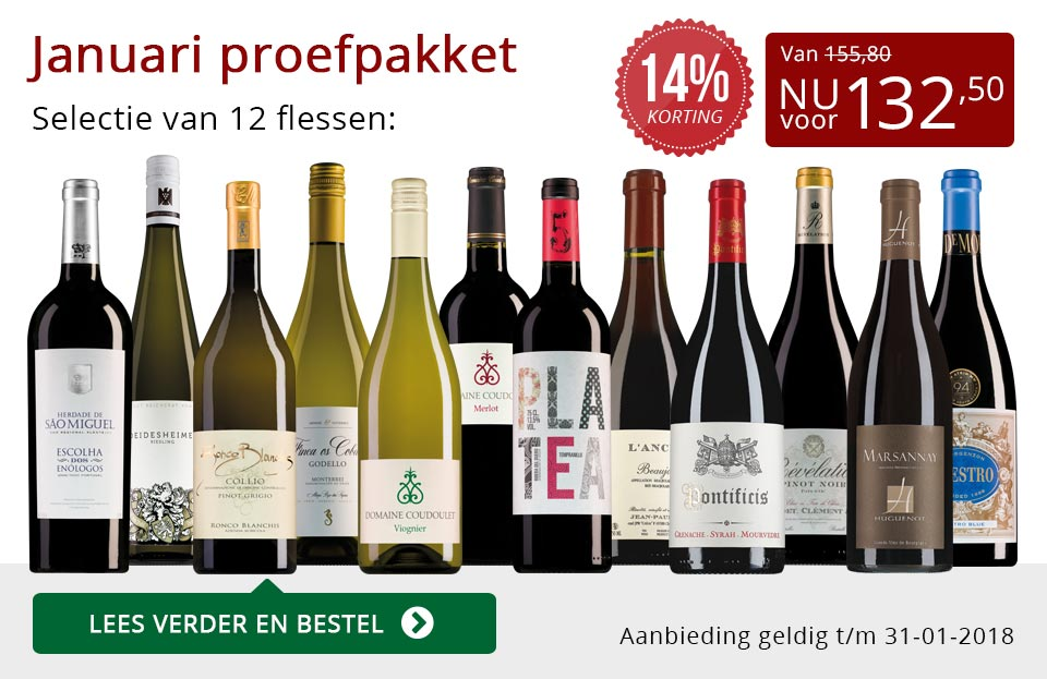 Proefpakket wijnbericht januari 2018 (132,50) - rood