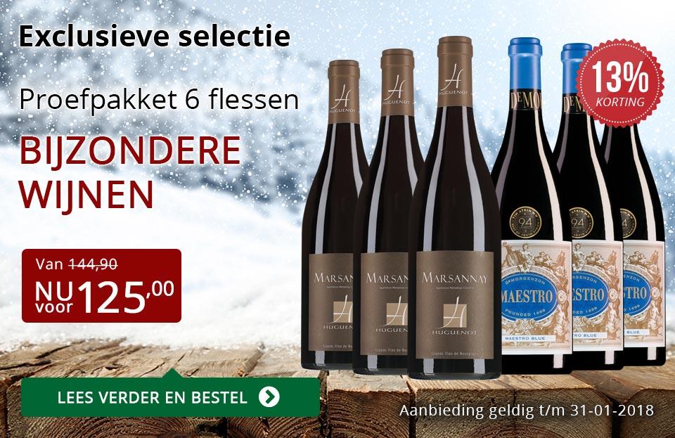 Proefpakket bijzondere wijnen januari 2018 (125,00) - rood