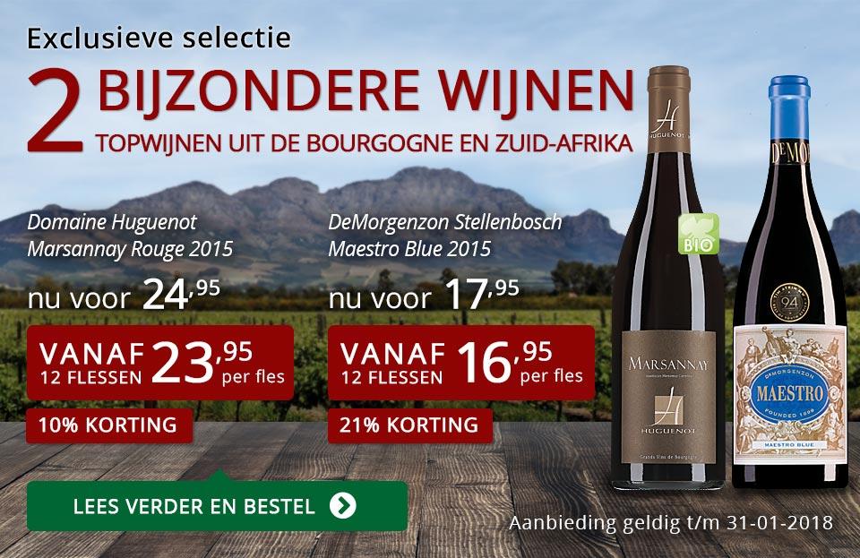 Exclusieve wijnen januari 2018 - rood