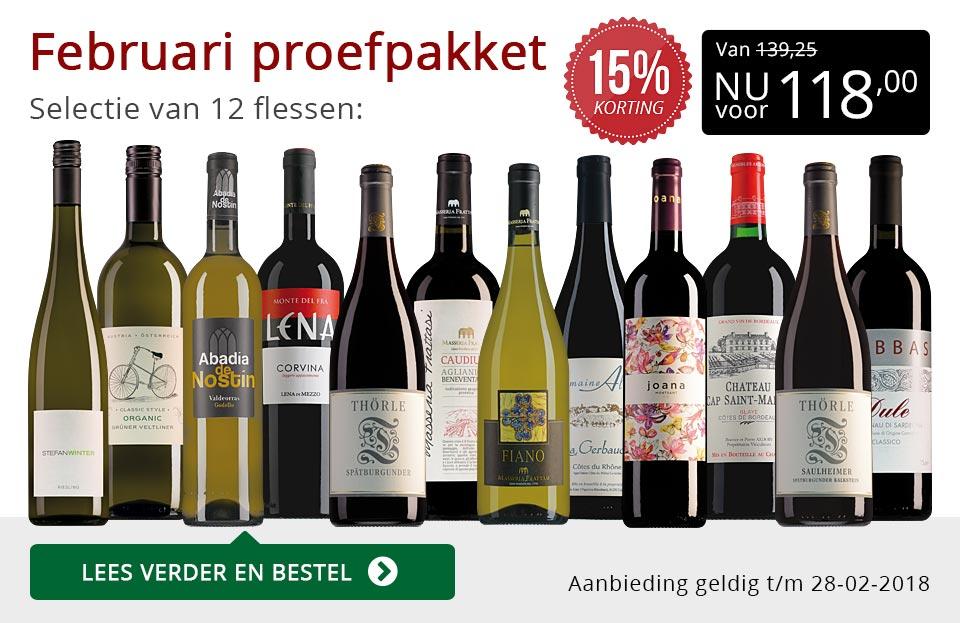 Proefpakket wijnbericht februari 2018 (118,00) - rood