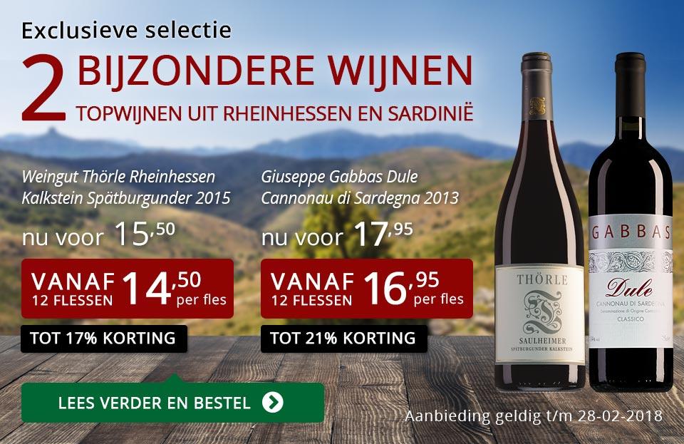 Exclusieve wijnen februari 2018 - rood