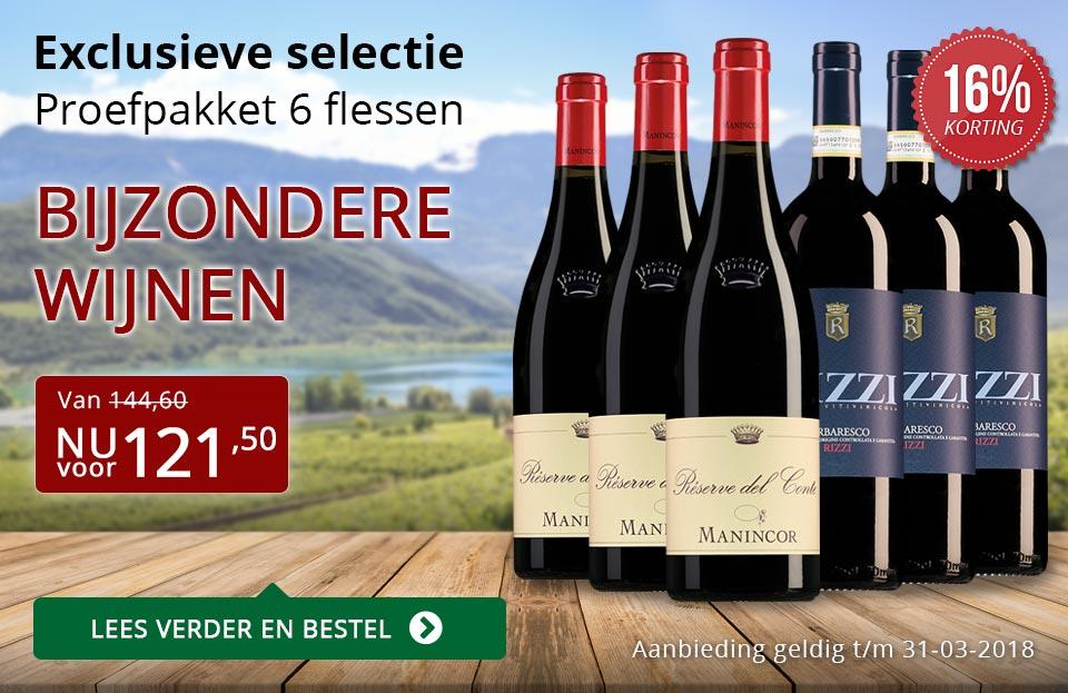 Proefpakket bijzondere wijnen maart 2018 (121,50) - rood