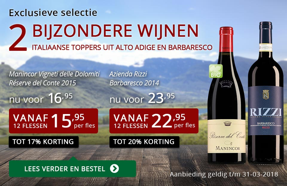 Exclusieve wijnen maart 2018 - rood