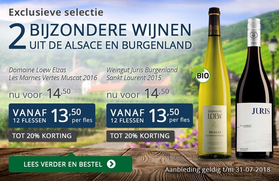 Exclusieve wijnen juli 2018 - blauw