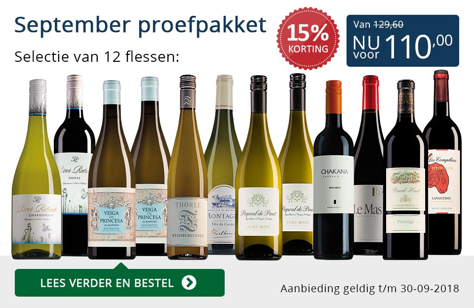 Proefpakket wijnbericht september 2018 (110,00) - blauw