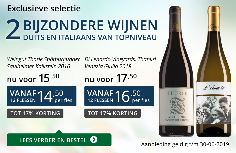 Twee bijzondere wijnen juni 2019 - blauw