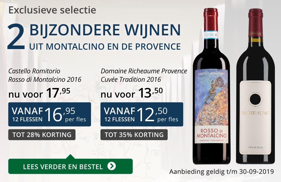 Twee bijzondere wijnen september 2019- blauw