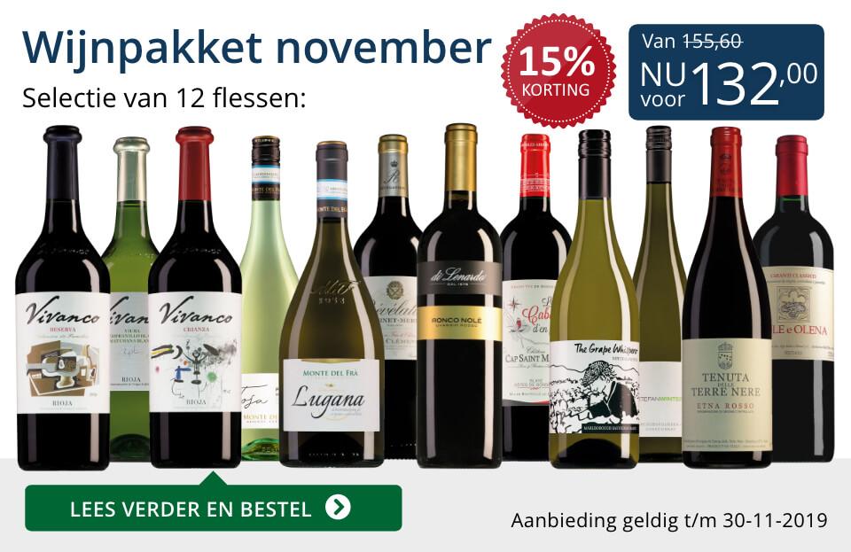 Wijnpakket wijnbericht november 2019 (132,00) - blauw