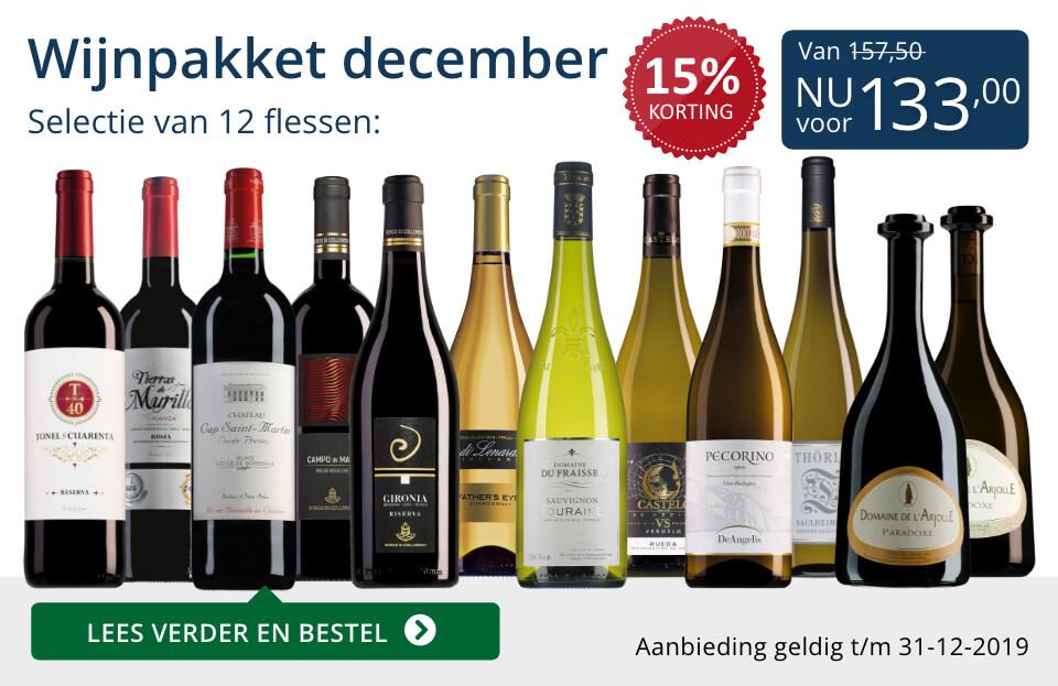 Wijnpakket wijnbericht december 2019 (133,00) - blauw
