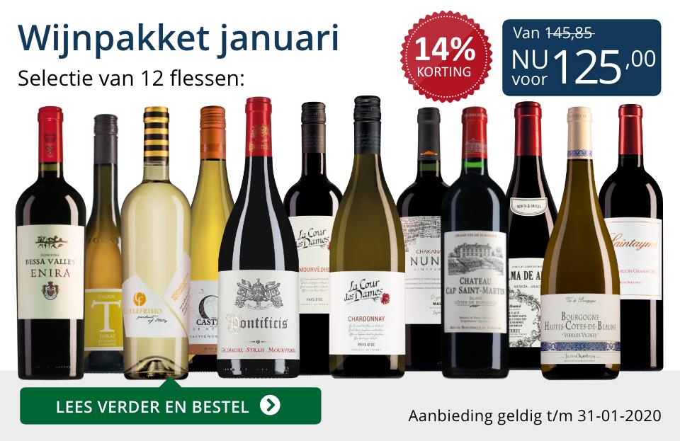 Wijnpakket wijnbericht januari 2020 (125,00) - blauw