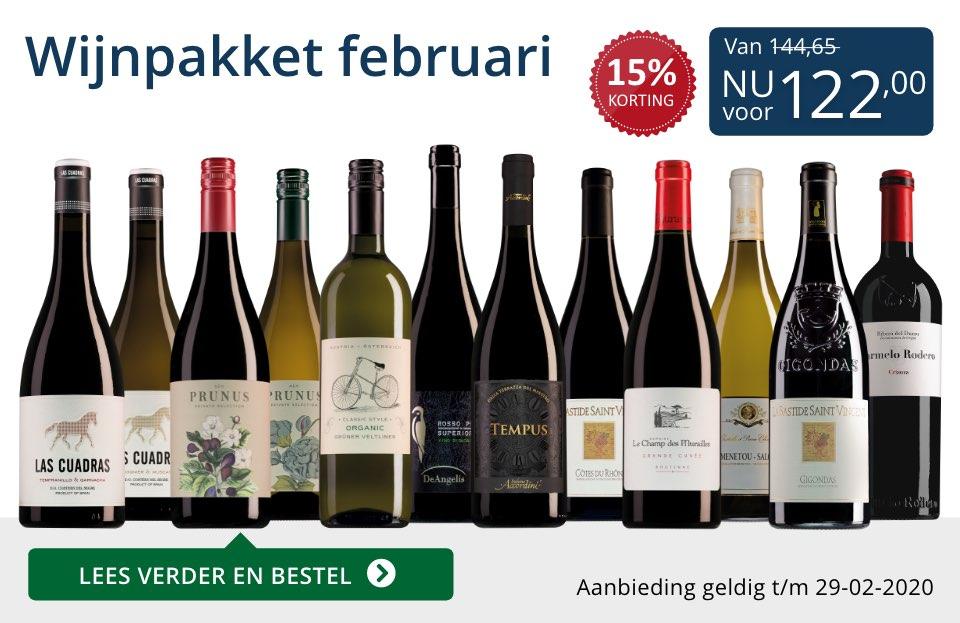 Wijnpakket wijnbericht februari 2020(122,00) - blauw