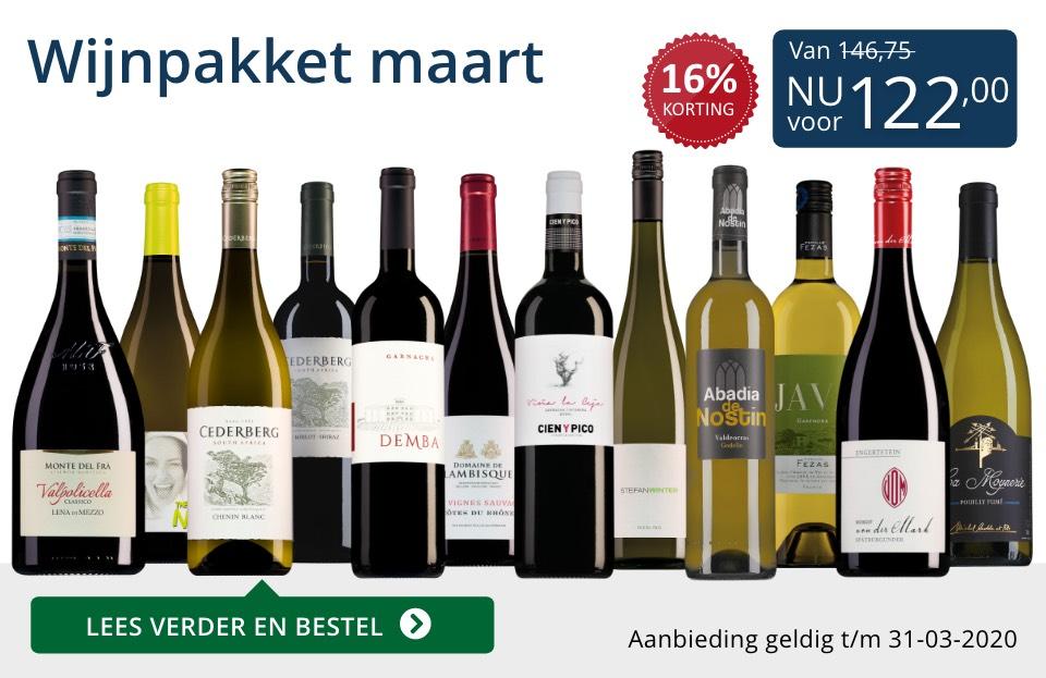 Wijnpakket wijnbericht maart 2020(122,00) - blauw