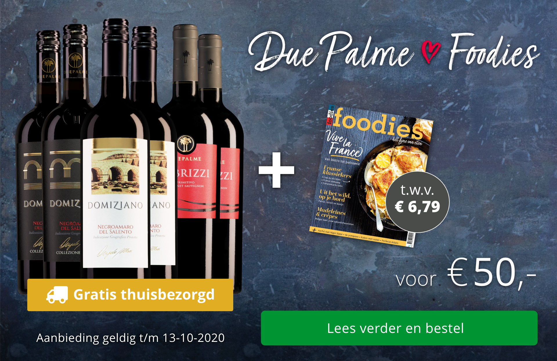 Wijnpakket Due Palme + Foodies-magazine