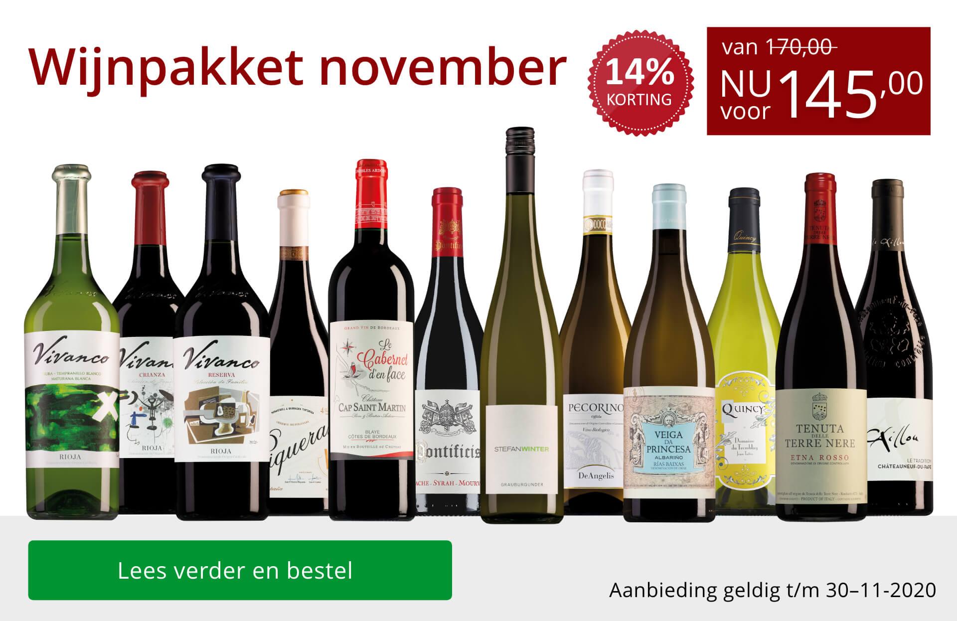 Wijnpakket wijnbericht november 2020(145,00)-rood