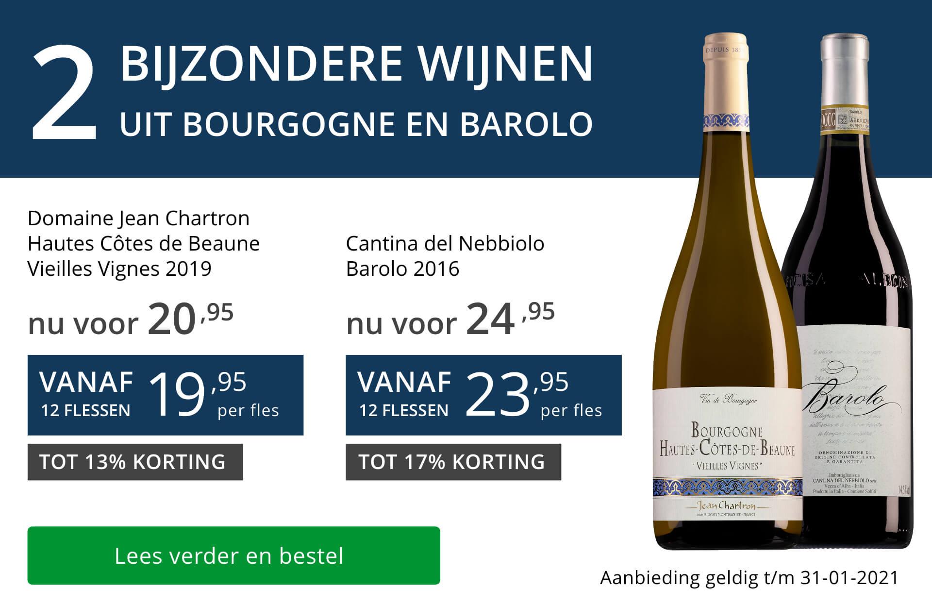 Twee bijzondere wijnen januari 2021 - blauw