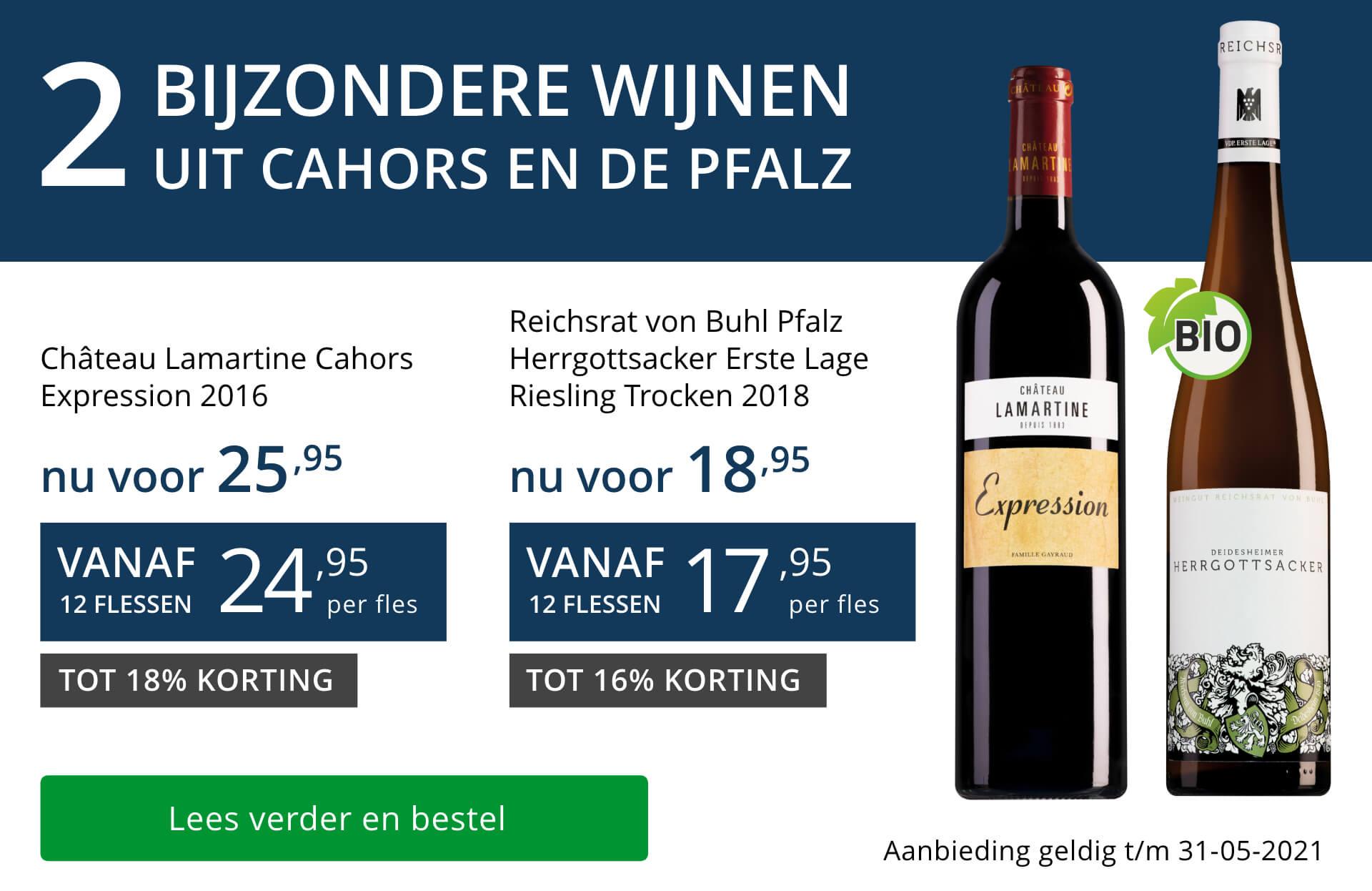 Twee bijzondere wijnen mei 2021 - blauw