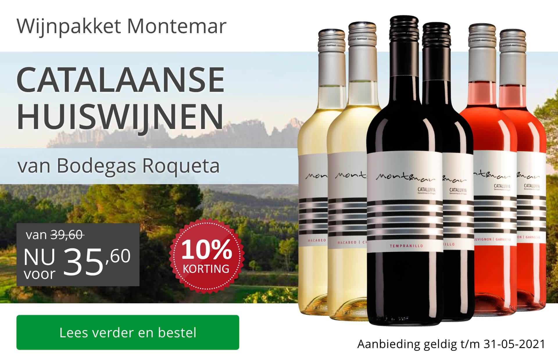 Wijnpakket Catalaanse huiswijnen mei 2021 (35,60)