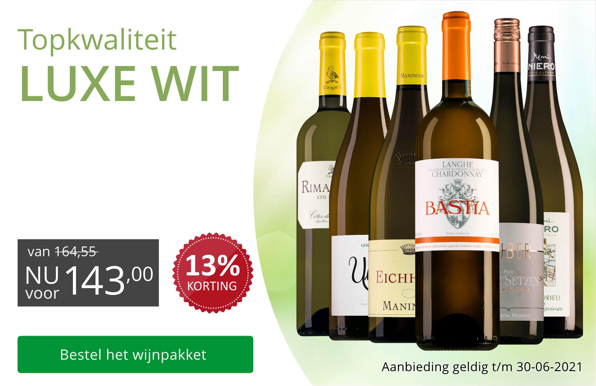 Wijnpakket Luxe witte wijnen(143,00)