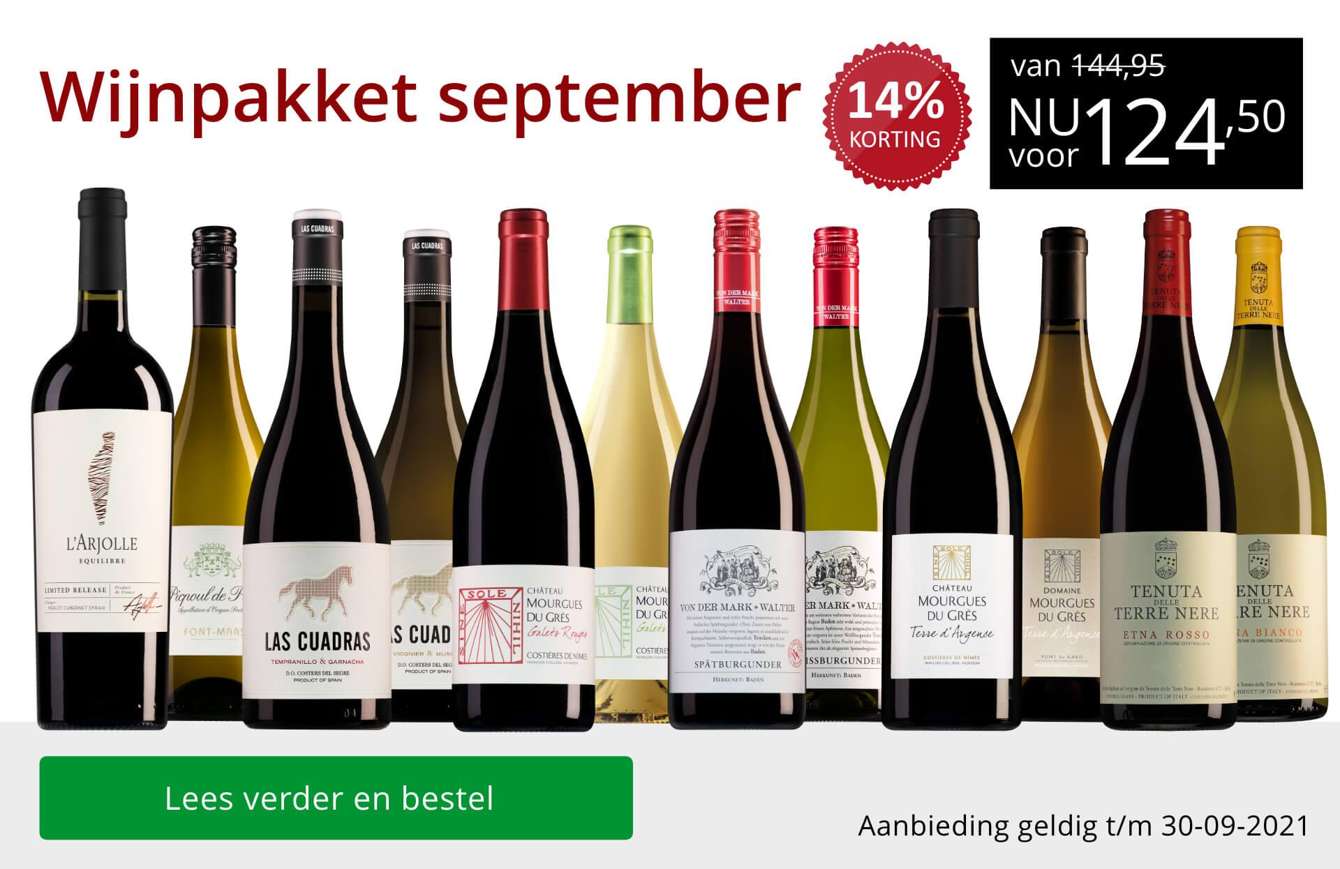 Wijnpakket wijnbericht september 2021 - rood