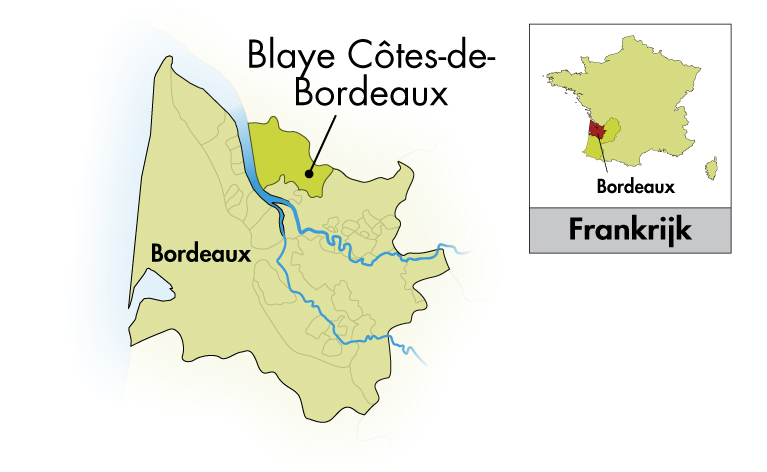 Château Cap Saint-Martin Blaye Côtes de Bordeaux Cuvée Prestige in originele kist met 6 flessen